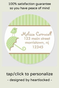 Shop Green Bird Address Labels created by heartlocked. Office Stationery, Personalized Stationery, Business Supplies, Address Labels, Office Gifts, Peace Of Mind, Seals, Custom Stickers, Gifts For Dad