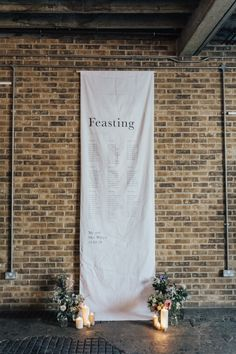 Morgan Davies Bridal Gowns, Stylish Wedding Signage and Feminine Florals Make This Industrial Inspiration Shoot a Dream by Rebecca Carpenter Photography Wedding Breakfast Seating, Wedding Table, Garden Wedding, Wedding Decor, Wedding Ideas, Morgan Davies Bridal, Olive Wedding, Diy Wedding Inspiration, Hanging Fabric