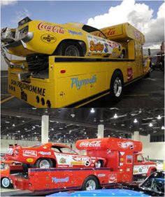 """Barrett-Jackson is excited to announce that the iconic Hot Wheels Yellow and Red Haulers and the 'Cuda and Duster Funny Cars raced by legendary drag racers Don """"The Snake"""" Prudhomme and Tom """"The Mongoose"""" McEwen, will be on display together for the first time outside of California in over 40 years. The haulers and funny cars will be showcased during the inaugural Hot August Nights Auction Presented by Barrett-Jackson at the Reno-Sparks Convention Center August 8-10, 2013."""