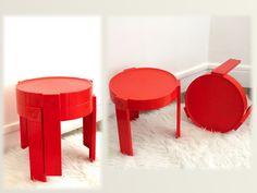 Tables basses en plastique vintage