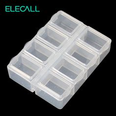 ELECALL 79*61*21mm  8 Slot Transparent Plastic Parts Box Mini Assembled Storage Box