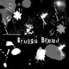 Grunge Blood - http://www.123freebrushes.com/grunge-blood/