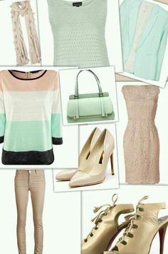 Mint  & Nude - all on Polyvore
