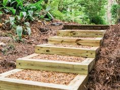 , how to make landscape stairs - - Yahoo Image Search Results. , how to make landscape stairs - - Yahoo Image Search Results Landscape Stairs, Landscape Timbers, House Landscape, Landscape Architecture, Sloped Backyard, Backyard Landscaping, Landscaping Ideas, Railroad Ties Landscaping, Landscaping Software