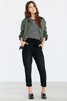 BDG Chambray Paper Bag Trouser Pant