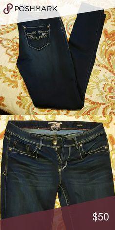 Express Rerock jeans Express Rerock skinny dark jeans Express Jeans Skinny