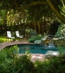 With Swimming Pool Natural Backyard Garden Design With Swimming Pool