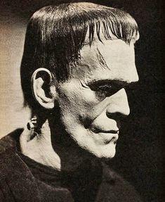 Retro Horror, Horror Icons, Vintage Horror, Horror Films, Boris Karloff Frankenstein, Frankenstein 1931, Frankenstein Tattoo, Classic Monster Movies, Classic Horror Movies