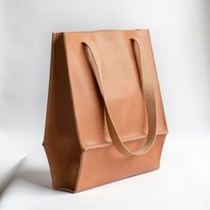 Ready to ship  Natural Leather Tote by CrowSLC on Etsy