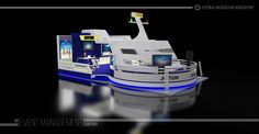 Design Booth Pameran - JOTUN adalah hasil disegn untuk dipreview atau dilihat oleh pihak jotun untuk mendapatkan approvel sebelum pengerjaan produksi booth
