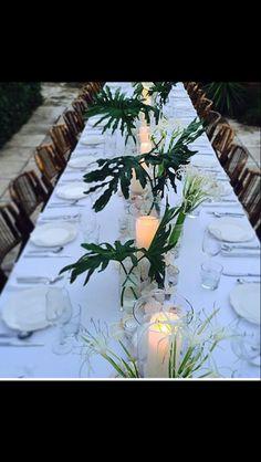 Beautiful table setting. Outdoor Tropical Wedding Ideas. HawaiiWeddingRetreat.com