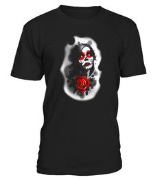 """# Day of the Dead Girl Red Makeup and Rose Original Art Tee .  Special Offer, not available in shops      Comes in a variety of styles and colours      Buy yours now before it is too late!      Secured payment via Visa / Mastercard / Amex / PayPal      How to place an order            Choose the model from the drop-down menu      Click on """"Buy it now""""      Choose the size and the quantity      Add your delivery address and bank details      And that's it!      Tags: Enjoy this Tattoo style…"""
