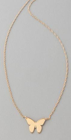Jennifer Zeuner Integrated Butterfly Necklace - StyleSays