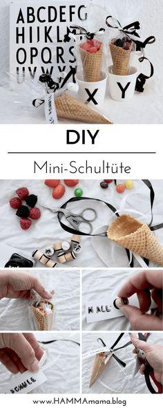 DIY Inspiration: Mini-Schultüte für Schulanfänger einfach selber machen