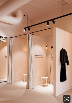 10 Ways Dressing Like a Minimalist Can Save You Money is part of Store interiors - Store design in Boutique Design, Design Shop, Boutique Decor, Boutique Ideas, Logo Design, Clothing Boutique Interior, Clothing Store Design, Fashion Store Design, Clothing Store Displays