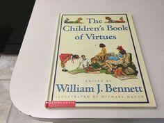 THE CHILDREN'S BOOK OF VIRTUES, EDITED BY WILLIAM J. BENNETT, NEW  #SimonSchuster
