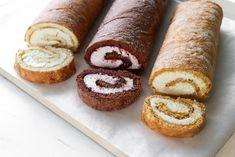 Kääretorttupohja kolmella tapaa - Ruoka & Koti No Bake Cake, Doughnut, Muffin, Cupcakes, Bread, Baking, Koti, Breakfast, Desserts