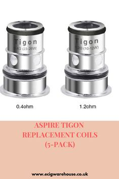 Aspire Tigon Replacement Coils Features: Aspire Tigon Coil Family DTL Coil - rated for Vape Coils, Electronic Cigarette, How To Get Money, Ukulele, Healthy Life, Pure Products, Things To Sell, Healthy Living, Vape