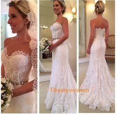 Love the lace and the fit and flare body