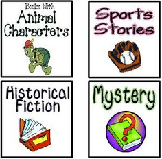 Free printable labels for the book baskets in your classroom library! Book Basket Labels, Book Bin Labels, Book Bins, Book Baskets, Classroom Library Labels, Classroom Fun, Book Genre Labels, Teaching Reading, Teaching Ideas
