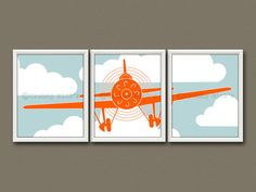This item is unavailable Vintage Airplane Nursery, Airplane Wall Art, Airplane Decor, Airplane Design, Vintage Airplanes, Fun Prints, Artwork Prints, Nursery Art, Nursery Decor