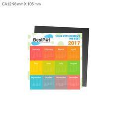 CA12 Calendar Magnet 98 x 105 mm