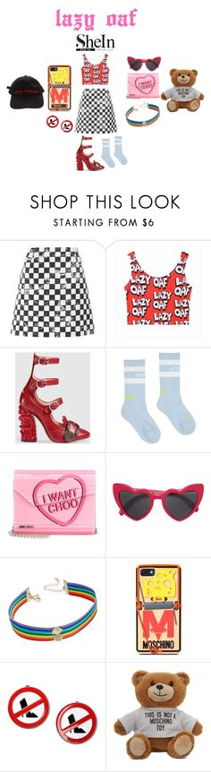 """""""LAZY OAF"""" by stavhalfon2013 on Polyvore featuring Marc Jacobs, Gucci, Vetements, Jimmy Choo, Yves Saint Laurent, INC International Concepts, Moschino and shein"""