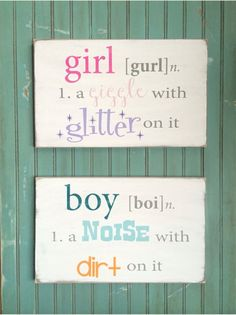girl - new baby signs - Wall Decor from Barn Owl Primitives