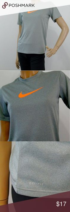 "Nike Dri Fit Gray Yoga Fitness Athletic Shirt NIKE Dri-Fit Women's Gray Short Sleeve Athletic Shirt Sz M Running Yoga Fitness ~?Label : Nike , Dri - Fit ~?Product :?Workout Shirt ~ Short Sleeve Top ~?Material : 100% Polyester ~?Color : Mouse Gray ~?Size : Tagged Size Medium ~?Measurements : Chest 18"" ( flat unstretched ) , 25"" Garment Length ~?Pre-owned , no flaws observed? Nike Tops Tees - Short Sleeve"
