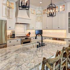Gray Granite Countertops, Transitional, kitchen, Stonecroft Homes