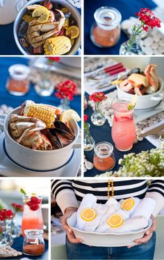 Throw a patriotic clam bake this weekend for your 4th of July party!