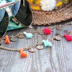 》sunlover details《 if you want this limited edition please contact us. there are only one of a few of this sunnycords. Beaded Jewelry Designs, Diy Jewelry, Eyeglass Holder, Rope Chain, Handmade Accessories, Chains, Eyeglasses, Eyewear, Beaded Bracelets
