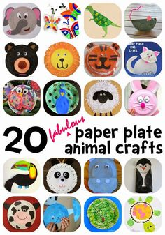 20 Fabulous Paper Plate Animal Crafts