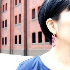 pink string earrings by Helena Rohner SS14 #helenarohner #earrings