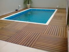 Deck Pvc, Swimming Pool Designs, Swimming Pools, Hot Tub Cover, Backyard Landscaping, My House, Sweet Home, Interior Design, Outdoor Decor