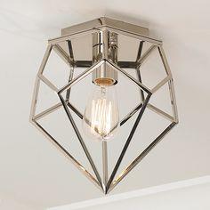 Young House Love Geometric Diamond Ceiling Light chrome