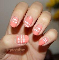 Arrow nails- Pi Phi #piphi #pibetaphi