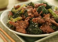 Broccoli and seitan stir-fry  I used thinly-sliced tempeh instead of seitan. This was delicious!