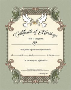 wedding certificates ceremonial certificates for weddings marriages commitments and all unions a treasured keepsake