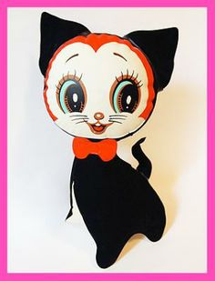 Vintage Japan Inflatable Cat Doll