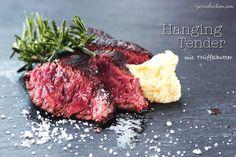 Hanging Tender Onglet Tenderloin Steak, Bulgur Salad, Spare Ribs, Man Food, Barbecue, Meat, Tricks, Cooking, Beef
