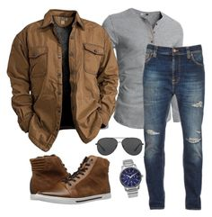 """""""Untitled #147"""" by hillzbabez on Polyvore featuring Kenneth Cole Reaction, Nudie Jeans Co., Michael Kors, Citizen, men's fashion and menswear"""