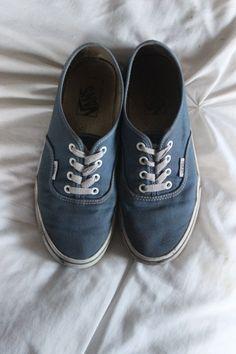 worn out blue vans