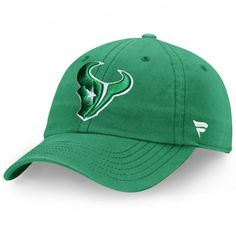 timeless design c3129 b4726 Men s Houston Texans Pro Line by Fanatics Branded Kelly Green St. Patrick s  Day Fundamental Adjustable