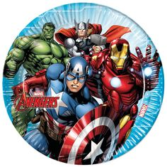Party Supplies Avengers Pack Of 8 Party Plates Diameter Marvel Disney Hulk Thor Iron Man & Garden Avengers Cartoon, Baby Avengers, Marvel Comics Superheroes, Marvel Avengers Assemble, Avenger Party, Party Set, Party In A Box, Party Plates, Party Tableware
