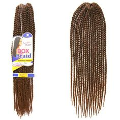 Trendy Dark Brown Ombre Handmade Small Braided Synthetic 18Pcs/Lot Hair Extension For Women