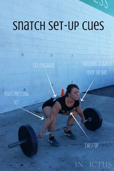 Top 4 Cues for the perfect Snatch set-up!  (CrossFit // Weightlifting)