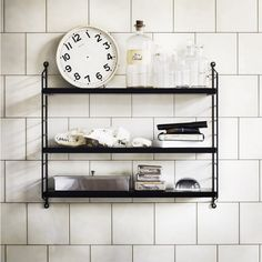 String Pocket Shelving Black | Storage Solutions | Home Inspiration | Industrial Design | Click to BUY NOW design55online.co.uk or Pin for later!