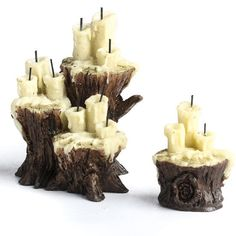 Fiddlehead Fairy Miniature Evil Lair Candles - Fairy Garden Miniatures - Dollhouse Miniatures - Doll Making Supplies - Craft Supplies