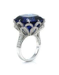 Ashok Sancheti - Ashok Sancheti Lotus Blossom Tanzanite and Diamond Ring - Designs by Ashok Sancheti